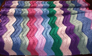 Easy Ripple Afghan - - free stash buster afghan crochet patterns