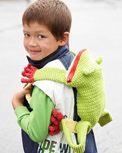 Frog Backpack :: Free Crochet Frog Patterns! Hop to it!