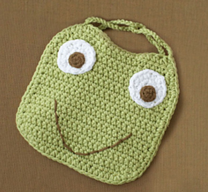 Frog Bib :: Free Crochet Frog Patterns! Hop to it!