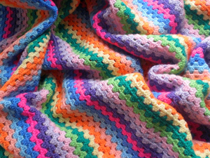 Granny Stripes - free stash buster afghan crochet patterns
