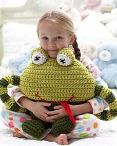 Huggable Frog Pillow :: Free Crochet Frog Patterns! Hop to it!