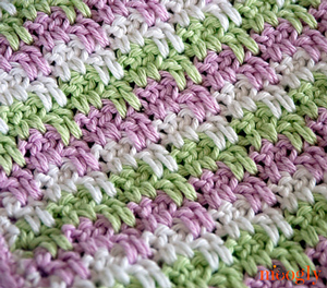 Leaping Stripes and Blocks - free stash buster afghan crochet patterns