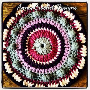Mandala Pattern - Free #Mandala #Crochet Pattern Roundup