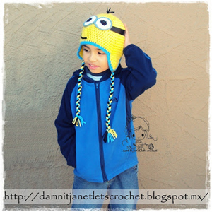 Minion Earflap Hat Beanie by damn it janet - free Minons crochet patterns roundup on Moogly!