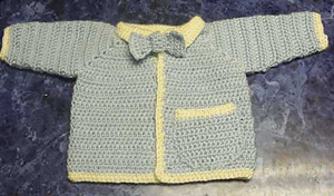 My Little Man Baby Sweater :: Free Crochet Cardigan Patterns for Baby Boys! Roundup on Moogly