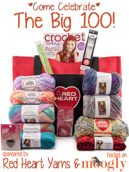 Red Heart Yarns and Moogly are giving away this awesome prize package! Enter today!