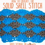 Learn how to #crochet the Solid Shell Stitch - includes instructions for working flat, in the round, or as an edging!