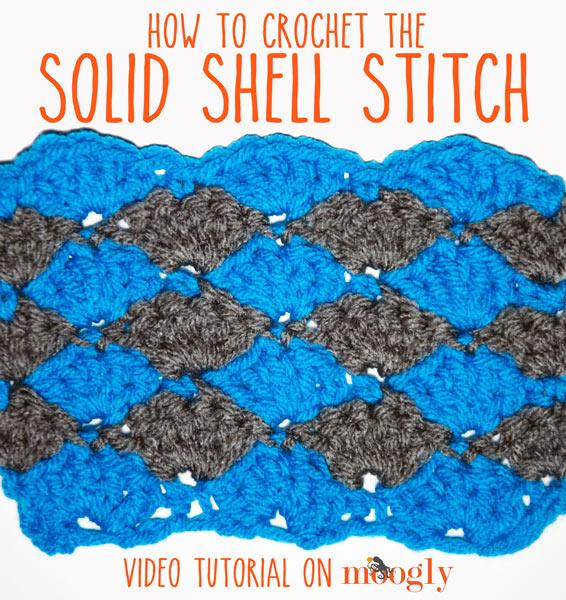 Solid Shell Stitch A Crochet Video Tutorial Moogly