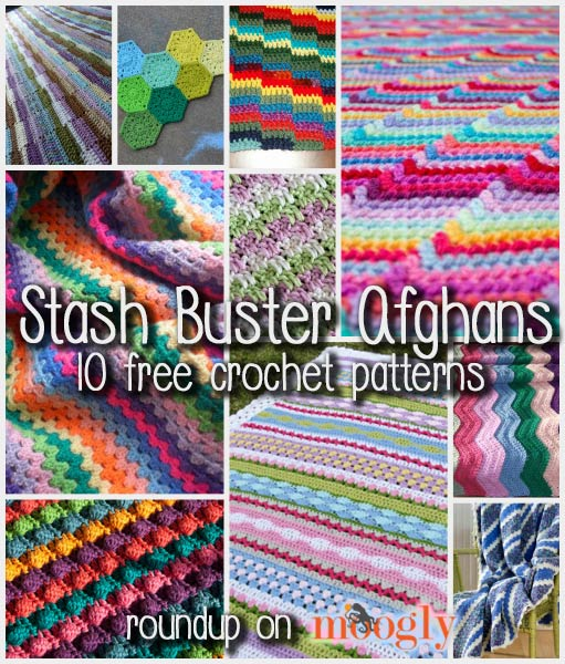 10 Fun and Free Stash Buster Afghan Crochet Patterns! - moogly