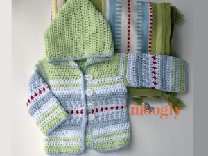1c06027ea 10 Free Crochet Cardigan Sweater Patterns for Baby Boys!