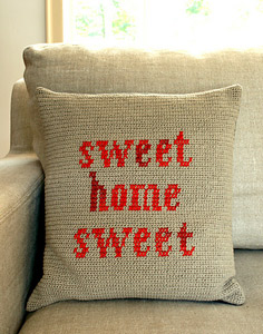 Sweet Home Sweet Crochet Pillow Pattern