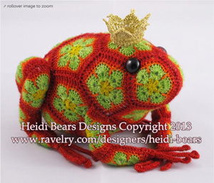 Tomato the Frog by Heidi Bears :: Crochet Frog Patterns