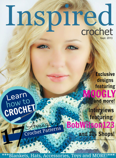 Inspired Crochet 1 Year Anniversary Issue - Giveaway on Moogly ends 9/5/13