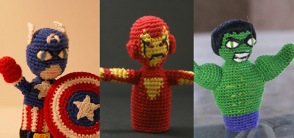 Free #Crochet Avengers Patterns :: Avengers Finger Puppets