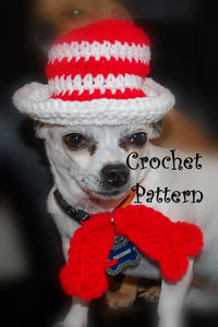 Cat in the Hat Dog Costume :: Roundup of free crochet pet costumes on Moogly!