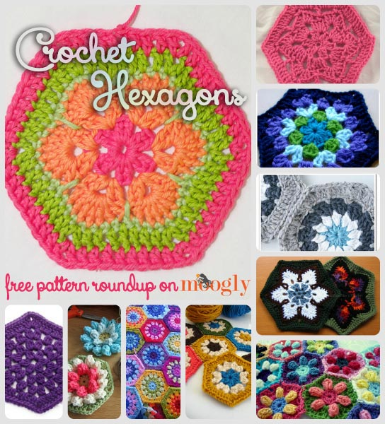 African Flower Hexagon Crochet Pattern Free : Happy Hexies: 10 Free Crochet Hexagon Patterns! moogly ...