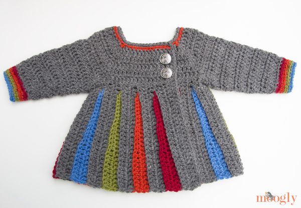 8af663b55 Free Pattern  Eloise Baby Sweater - moogly
