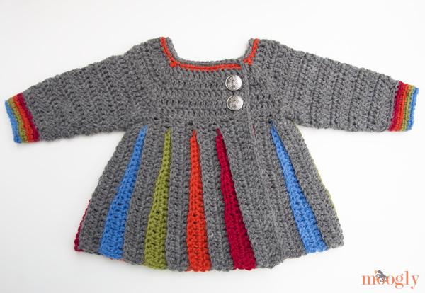 a922d1fa35e7 Free Pattern  Eloise Baby Sweater - moogly
