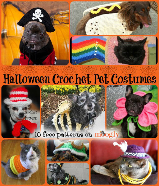 Free Crochet Patterns For Baby Halloween Costumes : Halloween Crochet for Furbabies: 10 Free Pet Costume Patterns!