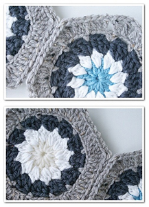 Hexagon Daist :: Featured in a Roundup of Free Crochet Hexagon Patterns on Moogly!!