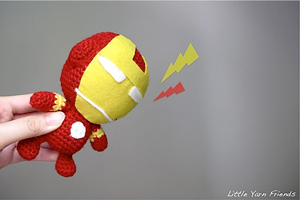 Free #Crochet Avengers Patterns :: Li'l Iron Man