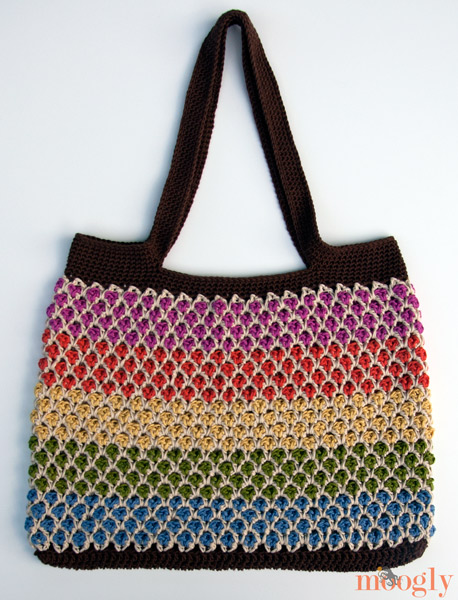 Free Crochet Patterns For Tote Bags And Purses : Moroccan Market Tote: Free Crochet Pattern - moogly