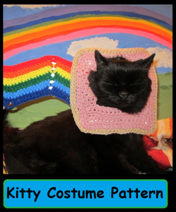 Nyan Can Pet Costume :: Roundup of free crochet pet costumes on Moogly!