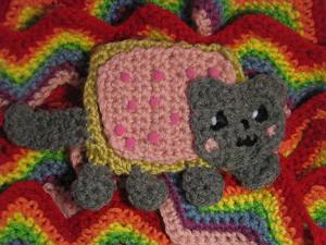 Nyan Cat Scarf :: Part of 10 Free Crochet Animal Scarf Patterns!