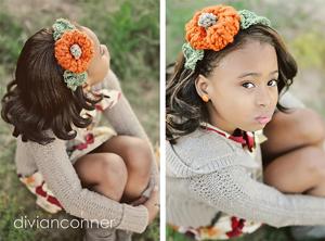 Crochet Pumpkin Pattern: Pumpkin Headband