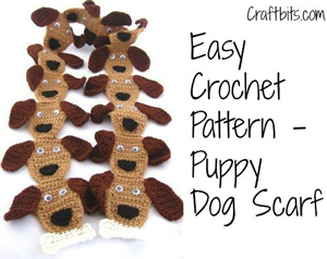 Puppy Dog Scarf :: Part of 10 Free Crochet Animal Scarf Patterns!
