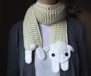 Sheep Scarf :: Part of 10 Free Crochet Animal Scarf Patterns!
