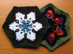 Starflower Hexagon :: Featured in a Roundup of Free Crochet Hexagon Patterns on Moogly!!