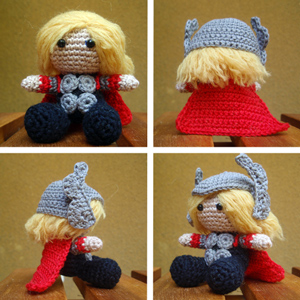Free #Crochet Avengers Patterns :: Thor Amigurumi