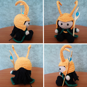 Free #Crochet Avengers Patterns :: Loki Amigurumi