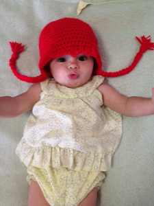 "Baby ""Hair"" Hat with Braids :: Free Crochet Wig Patterns"