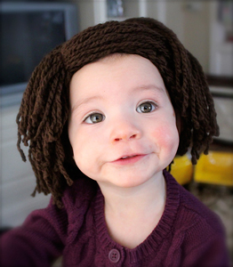 Baldy Baby Hat :: Free Crochet Wig Patterns