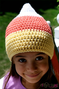 Candy Corn Beanie :: Free #Crochet Halloween Costumes for Babies!