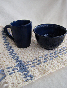 Country Plaid Placemat :: free plaid crochet pattern!