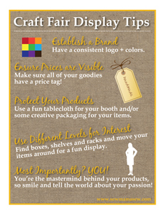Craft Fair Display Tips