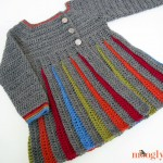 Eloise Girls Sweater :: free crochet pattern in girls sizes S/M/L!