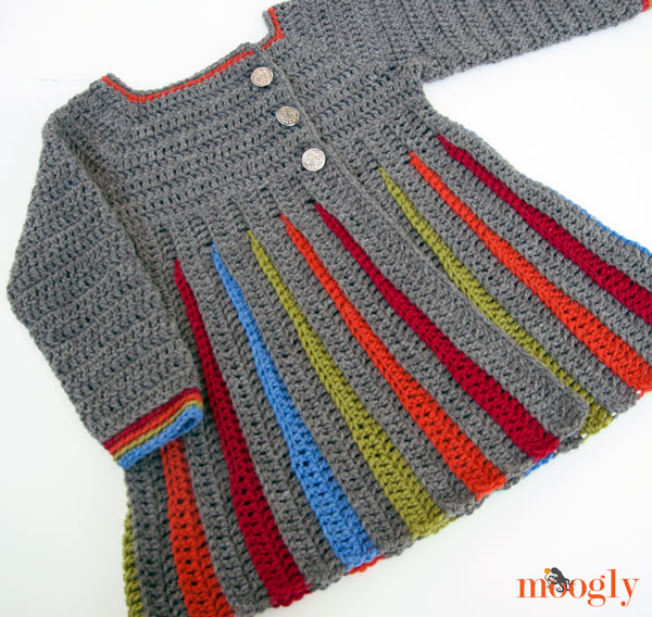 Free Crochet Pattern Little Girl Sweater : Free Crochet Girls Sweater Pattern