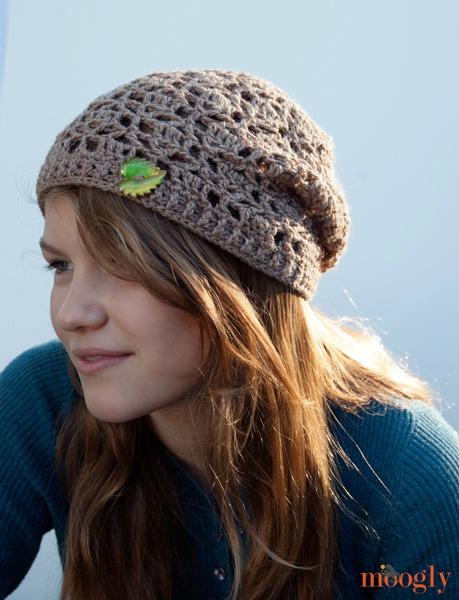 Free Pattern: Fallen Leaves Slouch Hat - moogly