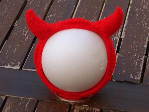 Halloween Devin Horns Headband :: Free #Crochet Halloween Costumes for Babies!