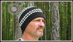 Hounds Tooth Beanie Hat :: Free Houndstooth Crochet Patterns!