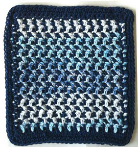 Houndstooth Dishcloth :: Free Houndstooth Crochet Patterns!