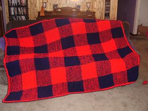 Lumberjack Flannelghan :: free plaid crochet pattern!