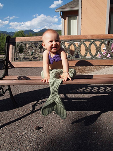 Mermaid Costume :: Free #Crochet Halloween Costumes for Babies!
