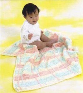 Plaid Baby Blanket :: free plaid crochet pattern!
