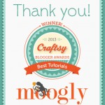 We Won! Craftsy Blogger Awards 2013: Best Tutorials!