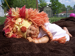 They Mighty Jungle :: Free #Crochet Halloween Costumes for Babies!